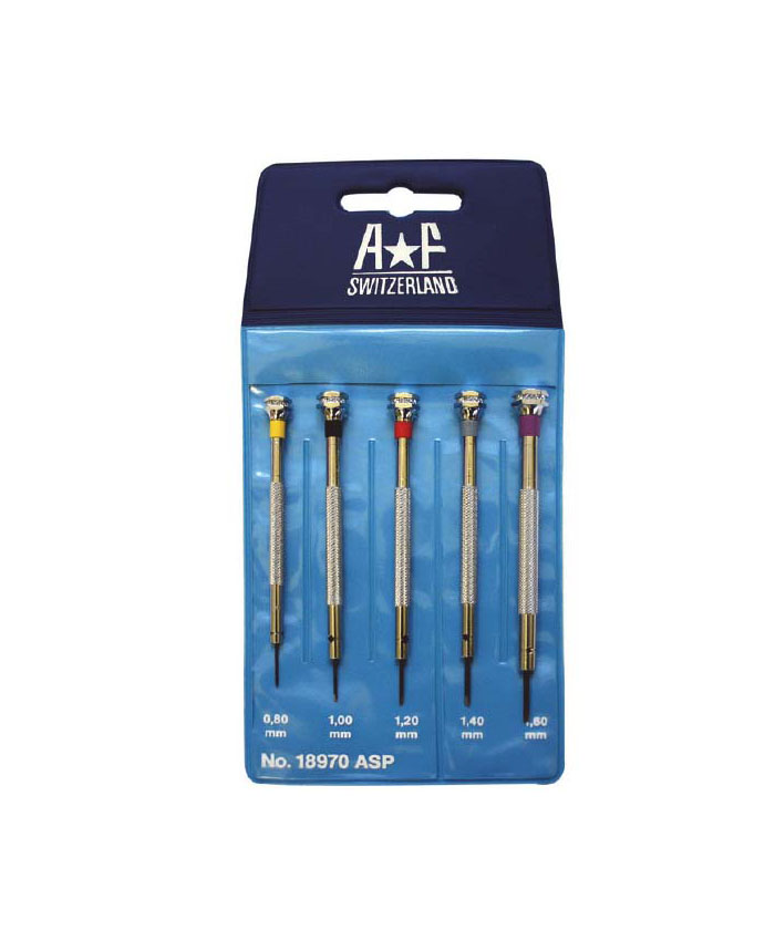 AF ref.18970ASP Screwdrivers Set of 5 (0.80-1.60mm)