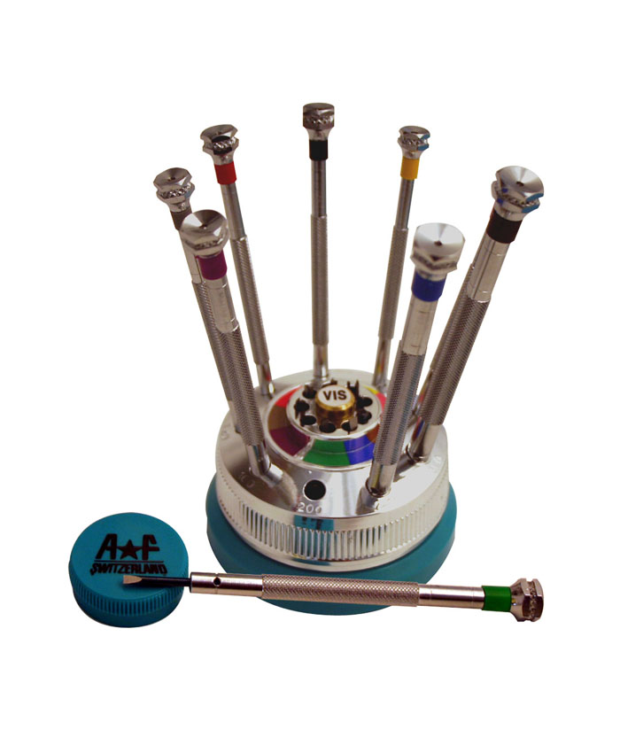 AF ref.18980 Screwdriver Set of 9 on Rotating Base