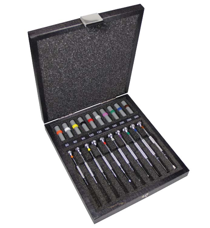 Bergeon ref.30081-A10 Screwdriver Set of 10pcs in Wooden Box