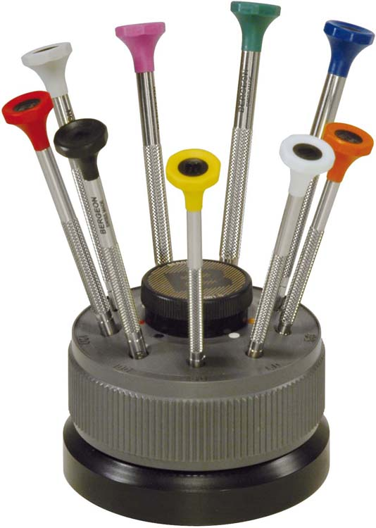 Bergeon ref.30081-S09 Screwdriver Set of 9pcs in Rotating Base